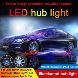 casquillos centrales de rueda de ford Rebajas 4PCS rueda de coche Tire Center tapacubos LED de luz azul de la cubierta de la lámpara de la capilla para BMW LEXUS Ford Mercedes Benz Nissan