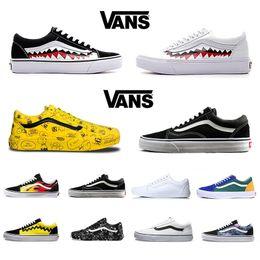 Original Vans Old Skool Hommes femmes Chaussures Décontractées Rock Flame Yacht Club Sharktooth Peanuts Planche À Roulettes Skateboard Hommes Toile