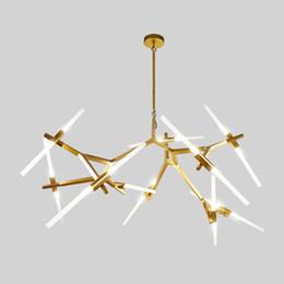 Lampadine post lampade online-Personalizzato post-moderno nordico a spina di pesce contemporanea lampada a sospensione soggiorno sala da pranzo dimmerabile LED G9 lampadine a sospensione
