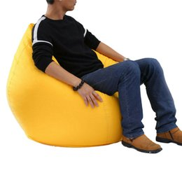 Astonishing Large Lazy Beanbag Sofas Cover Chairs Without Filler Oxford Cloth Lounger Seat Bean Bags Cozy Pouf Puff Couch Tatami Living Room Ibusinesslaw Wood Chair Design Ideas Ibusinesslaworg
