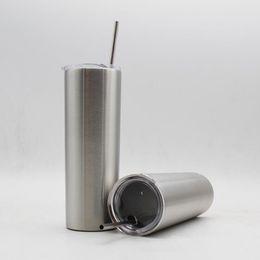 2019 тигровая керамика 20 унций чашка из нержавеющей стали с соломой 600 мл прямая чашка Двухстенная вакуумная изоляция пивная кофейная кружка дорожные чашки OOA5636