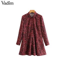 2019 vestido de lã de lã vermelho longo Mulheres por atacado red Leopard impressão camisa dress padrão animal manga comprida bolsos feminino chique casual reta vestido de vestido QA723 vestido de lã de lã vermelho longo barato