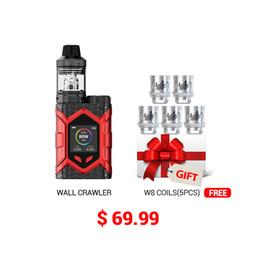 Kit Vaptio Wall Crawler originale FROGMAN XL TANK 5.0ML 80W E Sigaretta Vape TCR Starter Kit 1.3inch TFT Screen mod fit Serbatoio TFV8 / TFV12 da