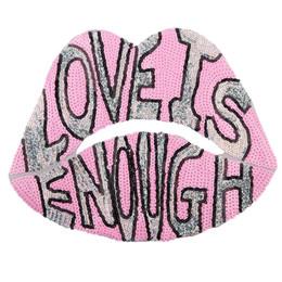 Casacos cor de rosa do amor on-line-remendos de boca de amor rosa com lantejoulas para jaquetas, emblemas de lábios bordados apliques para jeans, adesivos de boca para roupas