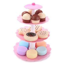1set Kids Food Pretend Play Toy Set Dulces Coloridas Pastel Galletas Postre Tower desde fabricantes