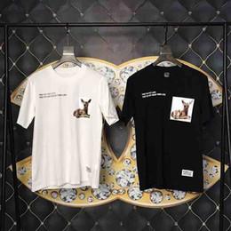 19SS En kaliteli Avrupa moda Klasik Lüks tasarımcı Yepyeni erkekler t shirt kısa kollu Mektup Geyik baskı erkek kadın giyim T-shirt Etiketi nereden geyik kısa basıldı tedarikçiler