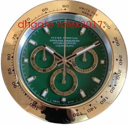 Relojes de pared azul online-20 Estilo de alta calidad reloj reloj de pared de 34cm x 5cm de acero inoxidable de 2 kg de cuarzo electrónicos azul luminiscente Cosmograph 116500 Reloj Relojes