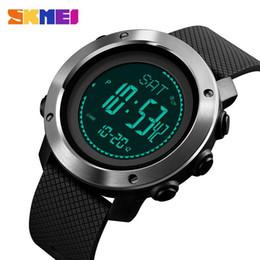 Tracker digitale online-SKMEI Outdoor Compass Orologi Orologi da polso di sport per gli uomini termometro Pressione Meteo vigilanza dell'inseguitore Reloj 1418 1427