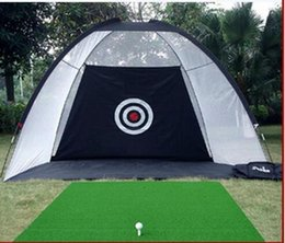 redes de prática de golfe Desconto Prática de golfe indoor net balanço de golfe exercitador driving range duas cores freeshipping