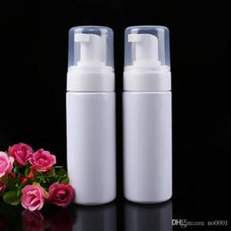 Botella de espuma azul online-200pcs / lot 150ml PET de plástico Espuma de mano dispensador de jabón 5 oz Claro / Blanco / botella de la bomba de espuma azul