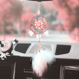 Pink Dream Catcher Taseel Dream Catcher Hanging carro de sonho Catchers para a decoração Home Car Pingentes casamento do ornamento de suspensão BMW05 de Fornecedores de notas bonitos dos desenhos animados do kawaii
