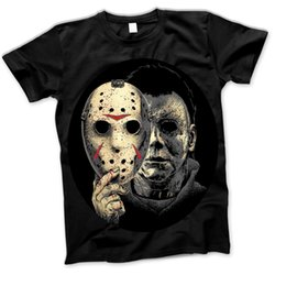Magliette di film di halloween online-Halloween Michael Myers Film Film Horror 80S Venerdì 13Th Crystal Lake Tees Maglietta personalizzata in jersey