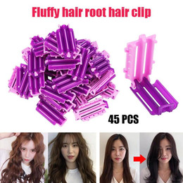 Haarlocke online-Heißer Verkaufs-45pcs / Bag Haarspange Welle Perm Rod Bars Corn Lockenwickler Fluffy Schellen Fluffy Curling Diy Hair Styling-Werkzeug