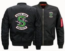 Um terno lateral on-line-Casaco de outono e inverno jaqueta masculina Riverdale South Side Serpentes um vôo Flight Suit