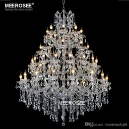 Lustre de cristal maria theresa on-line-Luxurious Large Crystal Chandelier Lighting Maria Theresa Crystal Light for Hotel Project Restaurant Lustres Luminaria Lamp