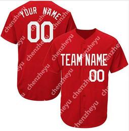 Personalizado New Men Baseball Jersey Simples Puro Jerseys Pulôver Botão Vermelho Barato 3030 de Fornecedores de pulôveres baratos