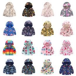 Deutschland Infant Unisex Printed Coat 39+ Mode Baby Baseballuniform Reißverschluss Baumwolle Jacke Cartoon Zusammenfassung Gedruckt Casual Hooded Outwear 1-6T Versorgung