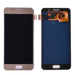 schermo dell'acciaio a galassia Sconti Per Samsung Galaxy A3 2016 A310 lcd A310F A310H A310M A310Y Display LCD touch screen digitizer regolare la luminosità di montaggio