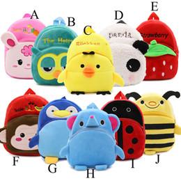 bolsa de animales de kinder Rebajas 10 colores Cute Cartoon Baby Toy School Bag Animal forma Mini felpa Mochila Niños Paquete de viaje al aire libre Bolsa de estudiante Kindergarten Bolsas C2