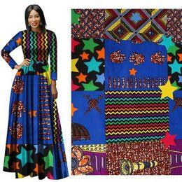 2019 pizzo africano brillante moda Ankara africano poliestere Cera Stampe Tessuto Binta reale cera di alta qualità 6 yard tessuto africano per il vestito da partito