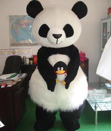 2019 mascote, traje, polar, urso Panda gigante chinesa mascote traje polar mascote traje branco urso polar para adultos carnaval desconto mascote, traje, polar, urso