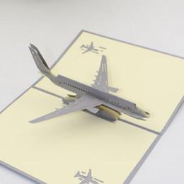 Mão que faz cartões on-line-Hand Made Pop Up 3D Cartões Tridimensionais Avião Design Postais Criativos Cartões de Agradecimento Quente Venda 6zy p