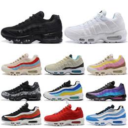 Nike air max 95 Nouvelles chaussures de course pour hommes femmes triple noir blanc tout rouge Laser Fuchsia Plante Couleur Teal Nebula mens