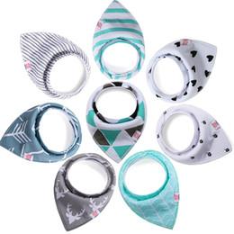 2019 bavaglini per bambini a maglia Set regalo colorato in cotone lavorato a maglia Amazon caldo per bavaglini e bavaglini