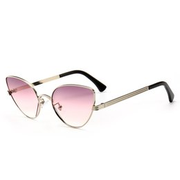 224e90b584 luxury brand sunglasses cat eye sunglasses vintage designer unique alloy frame  hipster sun glasses Oculos de sol