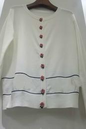 cappotti di colore rosa Sconti 2018 Autunno Cardigan Cappotto ampio Manica lunga Colore rosa Bottone rosa Giacca pesante Paillette Maglia donna maglione