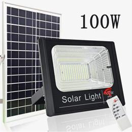altavoces con energía solar Rebajas Luz al aire libre Luces solares LED Potencia 30W 50W 60W 100W Luz de inundación bluetooth Altavoz IP65 Impermeable Ahorro de energía