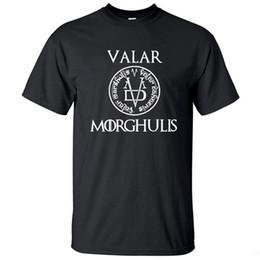 97ca37ed3acf Summer Tshirt Men Valar Morgulis All Men Must Die Valyrian Game T Shirts  Casual Mens Tops Tees Size S-2XL