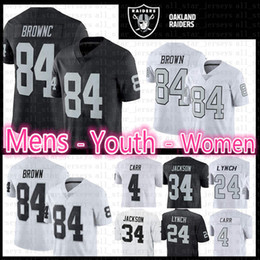 5d2f220c2 84 Antonio Brown Raiders jersey Mens Youth Women Kid s 2019 New Oakland    Raiders Color Rush bLack WHITE 84 Brown Football Jerseys