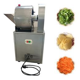 2020 déchiqueteuse trancheuse Machine de Dicer de déchiqueteuse de légumes électrique multifonctionnel automatique électrique trancheuse végétale électrique de 220V déchiqueteuse trancheuse pas cher