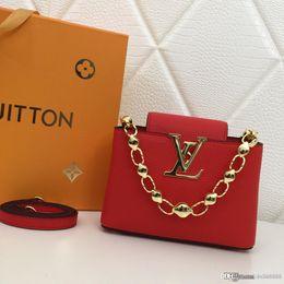 Manijas de bolsa de cadena online-Fashion Global Limited Edition Ms. Mini Handbag Chain Handle Rojo Negro Rosa Gris Designer Bag Number: M42935.