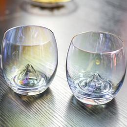 13 oz cristal tasse à vin gobelet en verre de vin créatif Iceberg ion-plaqué arc en ciel transparent ménage salon artisanat MMA1792 ? partir de fabricateur