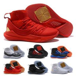 Meias top tênis on-line-5 Meias Baratas Tênis De Basquete Sneaker Mens Preto Mid Top U Ar 5s V Buracos Hight Qualidade Juventude Zapatos Clássico Trainer Tênis