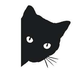 2019 katze aufkleber auto fenster 1 STÜCK Nette Karikatur Lustige Auto Aufkleber Schwarz Weiß Katzen Vinyl Autofenster Aufkleber rabatt katze aufkleber auto fenster