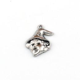 colliers de sorcière Promotion * UGLY WITCH * Pendentifs 100Pcs / lot à breloques argent antique Accessoires de bricolage Fit Bracelets Collier Boucles d'oreilles 16.5x23.2mm A-445