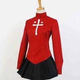 Traje Fate / Stay Night Rin Tohsaka Uniforme de vestimenta Anime disfraz Halloween cosplay desde fabricantes