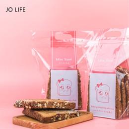 Sándwich de bolsillo online-JO VIDA de mano del Cierre de dibujos animados bolsillos Claro Tostadora mangas pasteleras empaquetan Zip Lock Pan Sandwich Cookies bolsa