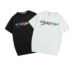 19ss Hommes DesignerT Shirt France De Luxe T-shirts Broderie Lettres De La Marque 2019 Nouveaux Vêtements Hommes Marque Hommes T-shirt S-2XL ? partir de fabricateur