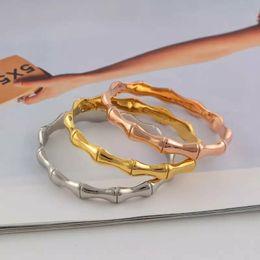 Articulações bracelete on-line-NOVO Jewelry New Romantic Bracelet Bangles por Mulheres Hot Bamboo Joint Cuff Bracelet Mulheres Moda Bangles Jóias