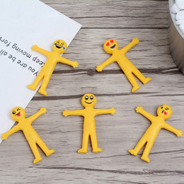 smiley face dolls Promo Codes - New Creative Emoji Dolls 5 Styles 5cm TPR Smiley face toys Novelty Gag Decompression Toys can folded and stretchable LA582