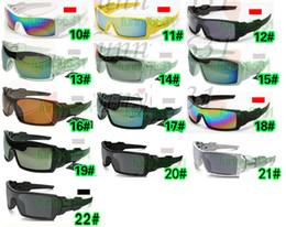 Lunettes homme en Ligne-10pcs été sports de vélo éblouissant lunettes de mode lunettes de soleil femmes hommes revêtement réfléchissant lunettes de soleil 22 couleurs livraison gratuite
