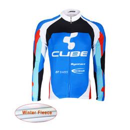 Pullover di cubo online-2019 CUBE mtb Bicicletta Shirt invernale termica pile ciclismo jersey bici manica lunga Cime ciclismo abbigliamento ciclismo ropa ciclismo 121905Y