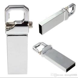 usb sticks 128gb Desconto Real Capacidade USB 2.0 Metal USB Flash Drive com chaveiro Memory Stick de alta velocidade 32 GB ~ 128 GB