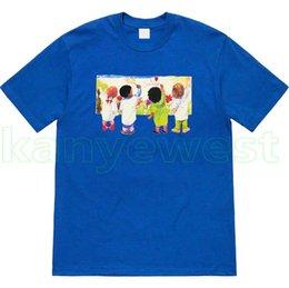 19SS Marca de lujo para hombre pintura de graffiti para niños camiseta de moda de alta calidad de diseño superior camisetas para niños tee camisetas casuales desde fabricantes