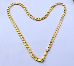 """Oro zecchino online-Europe Pure 24 K Fine Gold GF Collana Solid Stamep AU750 23.6 """"barbazzale Collana Chain CaratSolid Compleanno regalo di San Valentino prezioso"""
