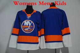 d4cf3550704 2018 Womens New York Islanders Damen Hockey Jersey Blank Kinder Herren  Günstige Home Royal Blue Stitched Jersey günstig leere billige  eishockey-trikots